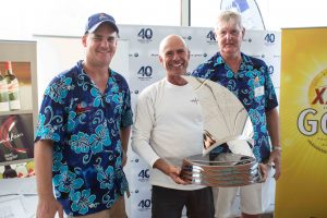 SYC Josh Belsham, Winning Skipper Duncan Hine, Alive and SYC Commodore Phil Short