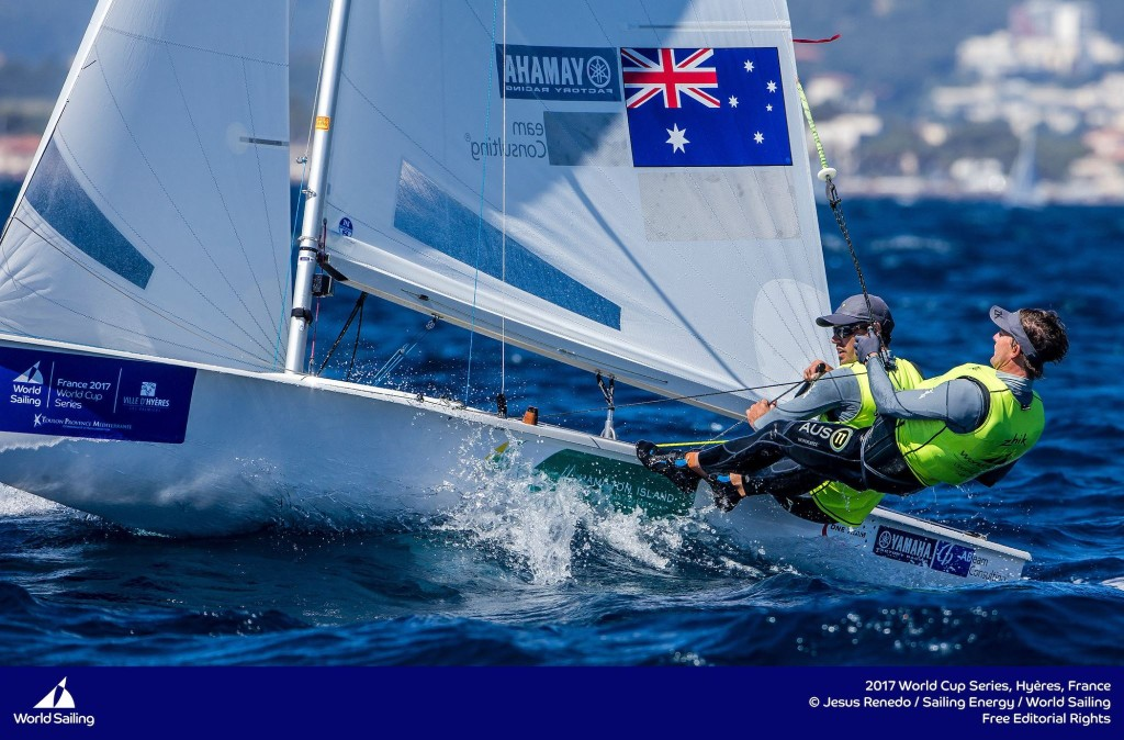 Mathew Belcher OAM and Will Ryan - 2017 World Cup Series - Hyeres, France Onwater 2